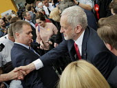 Jeremy Corbyn meeting supporters, Labour Party General Election 2017 manifesto launch, Bradford - Mark Pinder - 2010s,2017,campaign,campaigning,CAMPAIGNS,DEMOCRACY,election,elections,General Election,greeting,Jeremy Corbyn,Labour Party,launch,manifesto,meeting,MEETINGS,MP,MPs,Party,POL,political,politician,poli