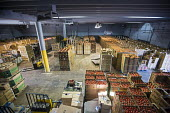 Nogales, Arizona, USA Borderlands Food Bank warehouse. It distributes 30 to 40 million pounds of produce each year that would otherwise end up in landfill - Jim West - 17-04-2017