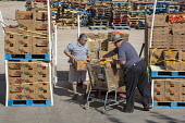 Nogales, Arizona, USA Nonprofit organizations from Arizona and Sonora, Mexico collect produce food from the Borderlands Food Bank. It distributes 30 to 40 million pounds of produce each year that woul... - Jim West - 17-04-2017