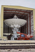 Datil, New Mexico, USA Antenna Assembly Building at the Very Large Array radio telescope astronomical radio observatory. The 27 large dish antennas on the Plains of San Agustin are part of the Nationa... - Jim West - 11-04-2017