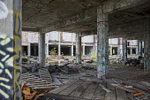 Detroit, Michigan The derelict Packard plant. Opened in 1903 the 3.5 million square foot plant employed 40,000 workers before closing in 1958. It has been left to decay and the ruins became a symbol o... - Jim West - 16-05-2017