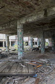 Detroit, Michigan The derelict Packard plant. Opened in 1903 the 3.5 million square foot plant employed 40,000 workers before closing in 1958. It has been left to decay and the ruins became a symbol o... - Jim West - 2010s,2017,abandoned,Albert Kahn,America,Arte Express,auction,AUCTIONS,auto,automotive,Automotive Industry,capitalism,car factory,Car Industry,carindustry,cities,City,closed,closing,closure,closures,d