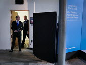 Liam Fox, Conservatives manifesto launch, Dean Clough Mills, Halifax, Yorkshire, 2017 General Election campaign - Mark Pinder - 2010s,2017,campaign,campaigning,CAMPAIGNS,CONSERVATIVE,Conservative Party,conservatives,DEMOCRACY,election,elections,FEMALE,Fox,General Election,launch,male,man,manifesto,men,people,person,persons,POL