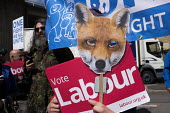 Anti Conservative Party protest outside Conservatives manifesto launch, Dean Clough Mills, Halifax, Yorkshire, 2017 General Election campaign - Mark Pinder - 17-05-2017