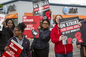 Roseville, Michigan, USA Forty thousand workers at AT&T Mobility began a three day strike over Jobs as the company wants to outsource jobs overseas - Jim West - 19-05-2017