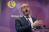 Paul Nuttall, UKIP election manifesto launch, Westminster, London - Philip Wolmuth - campaigning, election campaign,2010s,2017,campaign,campaigning,CAMPAIGNS,DEMOCRACY,ELECTION,elections,eurosceptic,Euroscepticism,eurosceptics,general election,launch,London,male,man,manifesto,men,peop