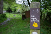 Diversion sign for public right of way, The Vale of Ewyas, Wales - Philip Wolmuth - 20-05-2017
