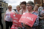 Angela Rayner MP campaigning in support of the Labour candidate Mike Hill, Hartlepool. Labour supporters rally - Mark Pinder - 28-05-2017