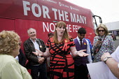 Angela Rayner MP campaigning in support of the Labour candidate Mike Hill, Hartlepool. For The Many, Not The Few campaign battle bus - Mark Pinder - 28-05-2017