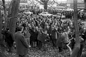 Westland Helicopters and BAC mass meeting voting to support a TUC led national strike against the Industrial Relations Act 1971 - NLA - 03-12-1971