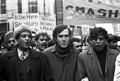 Peter Hain (C) protest against the Immigration Bill of 1971 (later the Immigration Act 1971), which introduced the concept of patriality or right of abode and which was fiercely opposed by immigrant c... - NLA - 21-03-1971