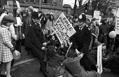 Protest outside Holloway Prison demanding the release of Pauline Jones who was jailed for stealing a baby and who, it was felt, should have got psychiatric care, London 1972 - NLA - 1970s,1972,activist,activists,adult,adults,against,arrest,arrested,arresting,BABIES,baby,CAMPAIGN,campaigner,campaigners,CAMPAIGNING,CAMPAIGNS,CHILD,childhood,CHILDREN,CLJ,DEMONSTRATING,Demonstration,