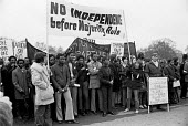Protest against Rhodesian independence without majority rule, London 1972 Rhodesia Emergency Campaign Committee, RECC - NLA - 13-02-1972