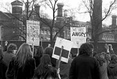 Protest outside Wormwood Scrubs, Hammersmith, West London, where 4 members of the Angry Brigade were held. The 4 were sentended to 10 years jail for Conspiring to cause explosions likely to endanger l... - NLA - 1970s,1972,activist,activists,Angry Brigade,bomb plots,CAMPAIGN,campaigner,campaigners,CAMPAIGNING,CAMPAIGNS,DEMONSTRATING,Demonstration,DEMONSTRATIONS,FEMALE,jail,London,male,man,men,outside,people,p
