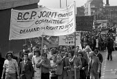 Protest in support of factory occupation and work in at Briant Colour Printing, London 1972 - Peter Arkell - 30-06-1972