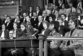 The Nationwide Festival of Light, Methodist Central Hall, Westminster, London 1971 with Cliff Richard (2nd from R) - Martin Mayer - 1970s,1971,activist,activists,Belief,CAMPAIGNING,CAMPAIGNS,celebrities,celebrity,christian,christianity,christians,cities,City,Cliff Richard,conviction,DEMONSTRATING,Demonstration,evangelical,faith,Fe