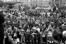 The Nationwide Festival of Light, Trafalgar Square, London 1971 - NLA - 1970s,1971,activist,activists,Belief,CAMPAIGNING,CAMPAIGNS,christian,christianity,christians,cities,City,conviction,DEMONSTRATING,Demonstration,evangelical,faith,FEMALE,Festival,Festival of Light,FEST