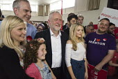 Jeremy Corbyn and PPC Greg Marshall, Labour Party general election rally, Beeston, Nottingham - John Harris - 03-06-2017
