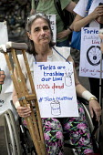 DPAC disabled rights protest, constituency of Theresa May, Maidenhead, Berkshire - Jess Hurd - 2010s,2017,activist,activists,age,ageing population,Austerity Cuts,BENEFIT,benefits,Berkshire,bound,campaign,campaigner,campaigners,campaigning,CAMPAIGNS,constituency,crutches,DEMONSTRATING,Demonstrat