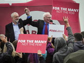 Jeremy Corbyn and Ronnie Campbell Labour Party general Election campaign, Blyth, Northumberland - Mark Pinder - 05-06-2017