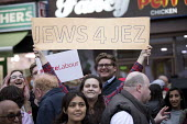 Jeremy Corbyn Labour Party rally on the last day of campaigning before the General Election, Harrow, London. Jews for Jez - Jess Hurd - 07-06-2017