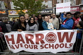 Jeremy Corbyn Labour Party rally on the last day of campaigning before the General Election, Harrow, London - Jess Hurd - 2010s,2017,against,Austerity Cuts,BAME,BAMEs,banner,banners,Black,Black and White,BME,bmes,campaign,campaigning,CAMPAIGNS,cities,City,DEMOCRACY,diversity,ELECTION,elections,ethnic,ethnicity,General El