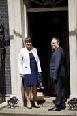 Arlene Foster and her DUP deputy Nigel Dodds arriving at 10 Downing Street for talks with Theresa May, London - Jess Hurd - 13-06-2017