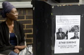Grenfell Tower Fire. MIssing persons sign outside the Latymer Community Centre in West London just a few hundred metres from the tower block engulfed by fire overnight - Stefano Cagnoni - 14-06-2017