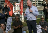 Grenfell Tower Fire. Matt Wrack Gen Sec FBU speaking at a Justice For Grenfell rally outside the Department for Communities and Local Government, Westminster in protest at the injustice of lives lost... - Stefano Cagnoni - 16-06-2017