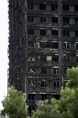 London Fire Brigade Urban Search and Rescue inside the building, Grenfell Tower Fire, West London - Jess Hurd - 22-06-2017