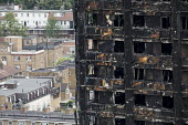 Grenfell Tower Fire, West London. - Jess Hurd - 2010s,2017,accident,accidental,accidents,blocks,building,buildings,burnt out,cities,City,cladding,Council Housing,Council Housing,damage,damaged,death,deaths,destroyed,destruction,dia,died,disaster,di