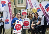 RCN Nurses beginning a summer of protest against pay restraint, protest at Department of Health, London, against the government pay cap for public servants - Stefano Cagnoni - 27-06-2017