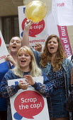 RCN Nurses from Whitechapel Hospital beginning a summer of protest against pay restraint, protest at Department of Health, London, against the government pay cap for public servants - Stefano Cagnoni - 27-06-2017