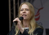Sian Berry Green Party speaking, rally in Parliament Square. Not One Day More protest demanding the Tory Government go and an end to austerity policies - Stefano Cagnoni - 2010s,2017,activist,activists,against,anti,austerity,Austerity Cuts,CAMPAIGN,campaigner,campaigners,CAMPAIGNING,CAMPAIGNS,cities,City,demonstrate demonstrating,DEMONSTRATING,Demonstration,DEMONSTRATIO