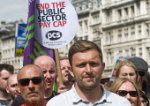 PCS placard for an end to the cap on public sector pay, Not One Day More protest demanding the Tory Government go and an end to austerity policies - Stefano Cagnoni - 01-07-2017