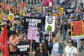 Not One Day More protest demanding the Tory Government go and an end to austerity policies - Stefano Cagnoni - 01-07-2017