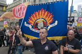 FBU, Not One Day More protest demanding the Tory Government go and an end to austerity policies - Stefano Cagnoni - 2010s,2017,activist,activists,adult,adults,against,anti,austerity,Austerity Cuts,banner,banners,CAMPAIGN,campaigner,campaigners,CAMPAIGNING,CAMPAIGNS,cities,City,demonstrate demonstrating,DEMONSTRATIN