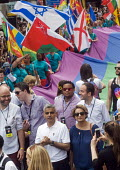 Pride 2017. London Mayor Sadiq Khan at the Gay Pride celebration and march - Stefano Cagnoni - 2010s,2017,ACE,CELEBRATE,celebrating,celebration,CELEBRATIONS,Culture,equal,equality,flag,flags,Gay,Gay Pride,gays,homosexual,homosexuality,Homosexuals,Israeli,Israelis,Labour Party,Lesbian,lesbians,L