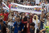 Pride 2017. Gaysians or Gay Asians join Gay Pride celebration and march London - Stefano Cagnoni - 2010s,2017,ACE,Asian,Asians,BAME,BAMEs,banner,banners,Black,BME,bmes,CELEBRATE,celebrating,celebration,CELEBRATIONS,COLOR,colors,colour,colours,Culture,diversity,equal,equality,ethnic,ethnicity,Gay,Ga