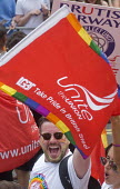 Pride 2017. UNITE Trade union members on the Gay Pride celebration and march London - Stefano Cagnoni - 2010s,2017,ACE,cabin crew,CELEBRATE,celebrating,celebration,CELEBRATIONS,COLOR,colors,colour,colours,Culture,equal,equality,flag,flags,Gay,Gay Pride,gays,homosexual,homosexuality,Homosexuals,Lesbian,l