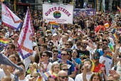 Pride 2017. Gay Pride celebration and march London. Queer Strike - Stefano Cagnoni - 2010s,2017,ACE,banner,banners,CELEBRATE,celebrating,celebration,CELEBRATIONS,COLOR,colors,colour,colours,Culture,equal,equality,Gay,Gay Pride,gays,homosexual,homosexuality,Homosexuals,Lesbian,lesbians