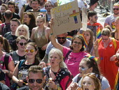 Pride 2017. LGBTQ for Corbyn supporters at Gay Pride celebration and march London - Stefano Cagnoni - 2010s,2017,ACE,BAME,BAMEs,Black,Black and White,BME,bmes,CELEBRATE,celebrating,celebration,CELEBRATIONS,christian,christianity,christians,COLOR,colors,colour,colours,Culture,dads,diversity,equal,equal