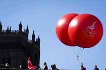 Durham Miners Gala, Durham 2017 - Mark Pinder - 2010s,2017,ACE,balloon,balloons,County Durham,Culture,Durham Miners Gala,member,member members,members,MINER,Miners,MINER'S,Trade Union,Trade Union,Trade Unions,Trades Union,Trades Union,Trades unions