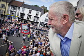 Jeremy Corbyn, Durham Miners Gala, Durham 2017 - Mark Pinder - 2010s,2017,ACE,banner,banners,County Durham,Culture,Durham Miners Gala,Jeremy Corbyn,Labour Party,member,member members,members,MINER,Miners,MINER'S,NUM,POL,political,POLITICIAN,POLITICIANS,Politics,T