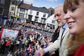 Jeremy Corbyn, Angela Rayner MP, Durham Miners Gala, Durham 2017 - Mark Pinder - 2010s,2017,ACE,ASLEF,County Durham,Culture,Durham Miners Gala,Jeremy Corbyn,Labour Party,member,member members,members,MINER,Miners,MINER'S,POL,political,POLITICIAN,POLITICIANS,Politics,Trade Union,Tr