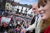 Jeremy Corbyn, Angela Rayner MP, Durham Miners Gala, Durham 2017 - Mark Pinder - 08-07-2017