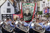 Durham Miners Gala, Durham 2017 - Mark Pinder - 2010s,2017,ACE,bands,banner,banners,Brass Band,County Durham,Culture,Durham Miners Gala,melody,member,member members,members,MINER,Miners,MINER'S,music,MUSICAL,musician,musicians,NUM,play,player,playe