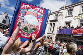 Jeremy Corbyn, Durham Miners Gala, Durham 2017 - Mark Pinder - 2010s,2017,ACE,banner,banners,County Durham,Culture,Durham Miners Gala,Labour Party,member,member members,members,MINER,Miners,MINER'S,NUM,POL,political,POLITICIAN,POLITICIANS,Politics,Trade Union,Tra