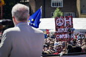 Jeremy Corbyn speaking Durham Miners Gala, Durham 2017 - Mark Pinder - 2010s,2017,ACE,Campaign for Nuclear Disarmament,CND,CND Symbol,County Durham,Culture,Durham Miners Gala,Jeremy Corbyn,Labour Party,member,member members,members,MINER,Miners,MINER'S,PACIFISM,PEACE,pea
