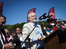 Jeremy Corbyn speaking Durham Miners Gala, Durham 2017 - Mark Pinder - 2010s,2017,ACE,County Durham,Culture,Durham Miners Gala,Jeremy Corbyn,Labour Party,member,member members,members,MINER,Miners,MINER'S,POL,political,POLITICIAN,POLITICIANS,Politics,SPEAKER,SPEAKERS,spe